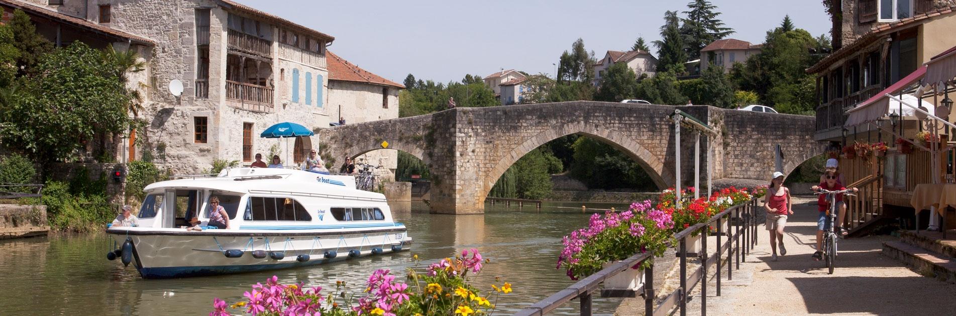Sejlads på vandvejene i Aquitaine