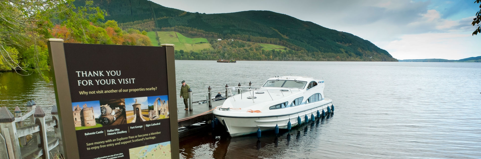 Riverboat moored in Scotland