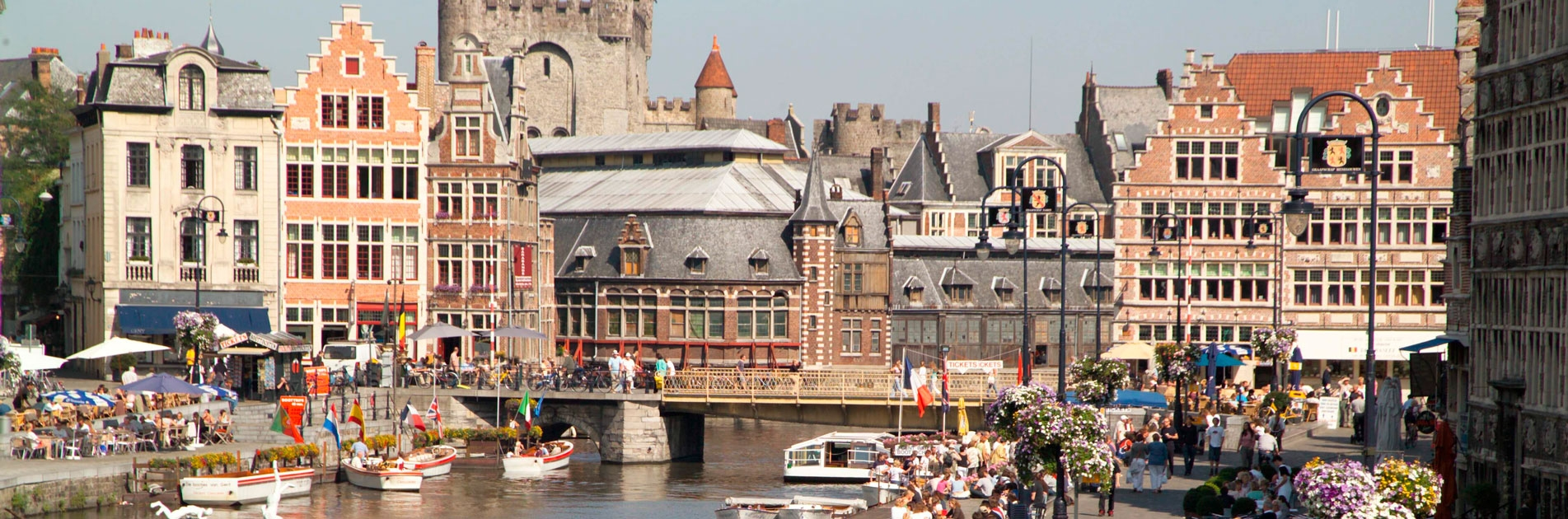 Lively city in Belgium