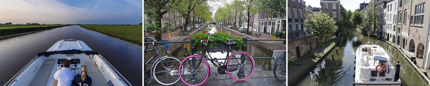 Flodbåde på de hollandske kanaler