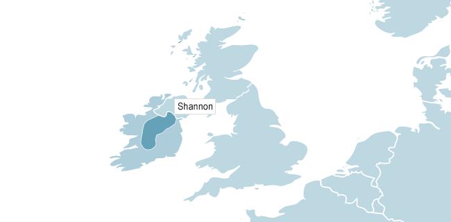Kort over Shannon