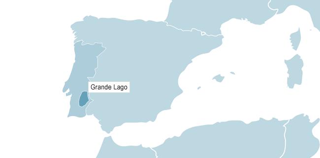 Kort over Grande Lago