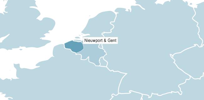 Kort over Flandern