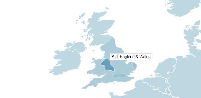 Kort over Manchester
