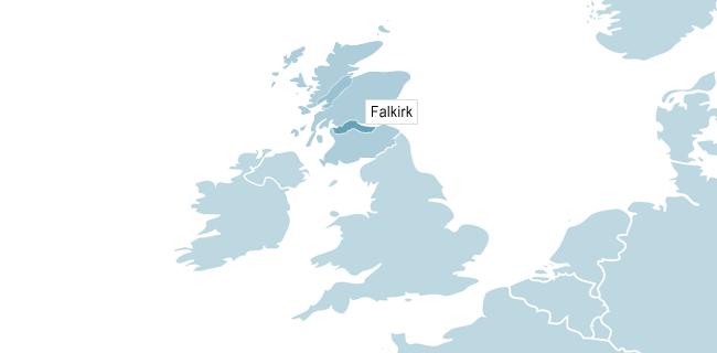 Kort over Edinburgh