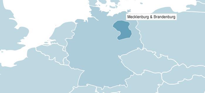 Kort over Mecklenburg