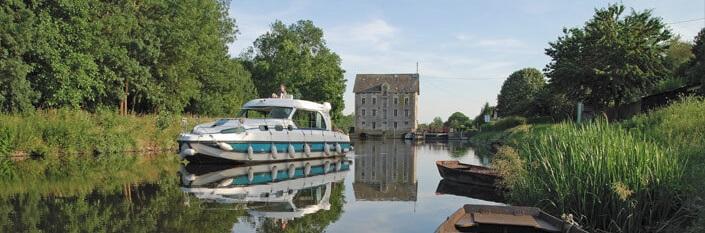 Båd på flod i Anjou